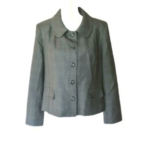Pendleton Petite 100% virgin wool Gray Blazer 16